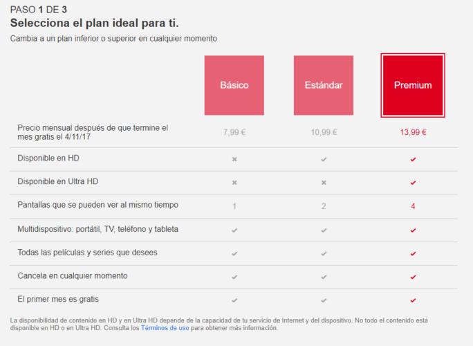 netflix nuevos precios españa octubre 2017