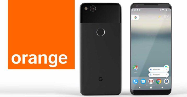 orange google pixel 2 cl