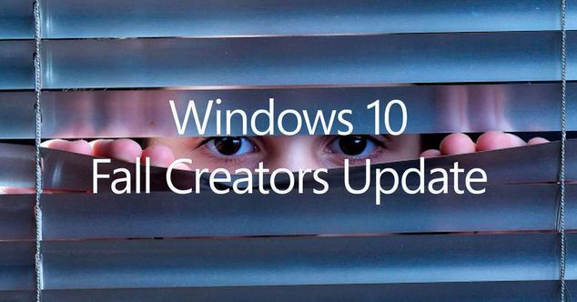 privacidad en Windows 10 Fall Crators Update