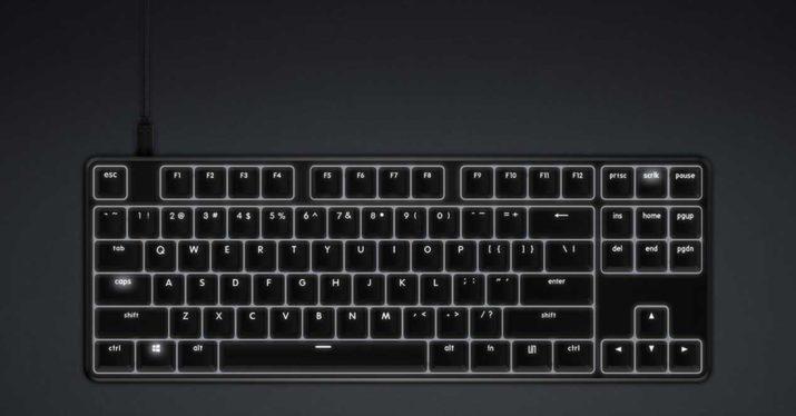 teclado xiaomi mecanico retroiluminado