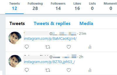 fotos de Instagram en Twitter