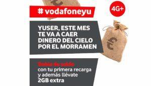 Doble de saldo y 2 gigas extra gratis para los nuevos clientes de Vodafone yu