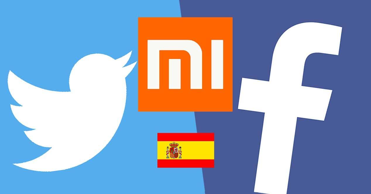 xiaomi españa twitter facebook