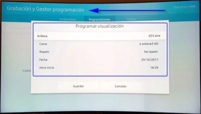 Samsung QLED TV grabació
