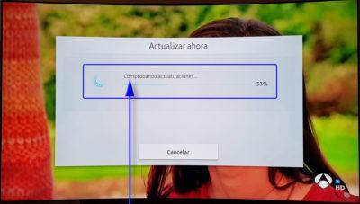 Samsung QLED TV actualización