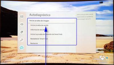 Samsung QLED TV autodiagnóstico