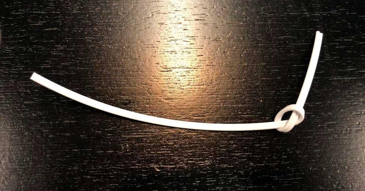 fibra óptica de plástico