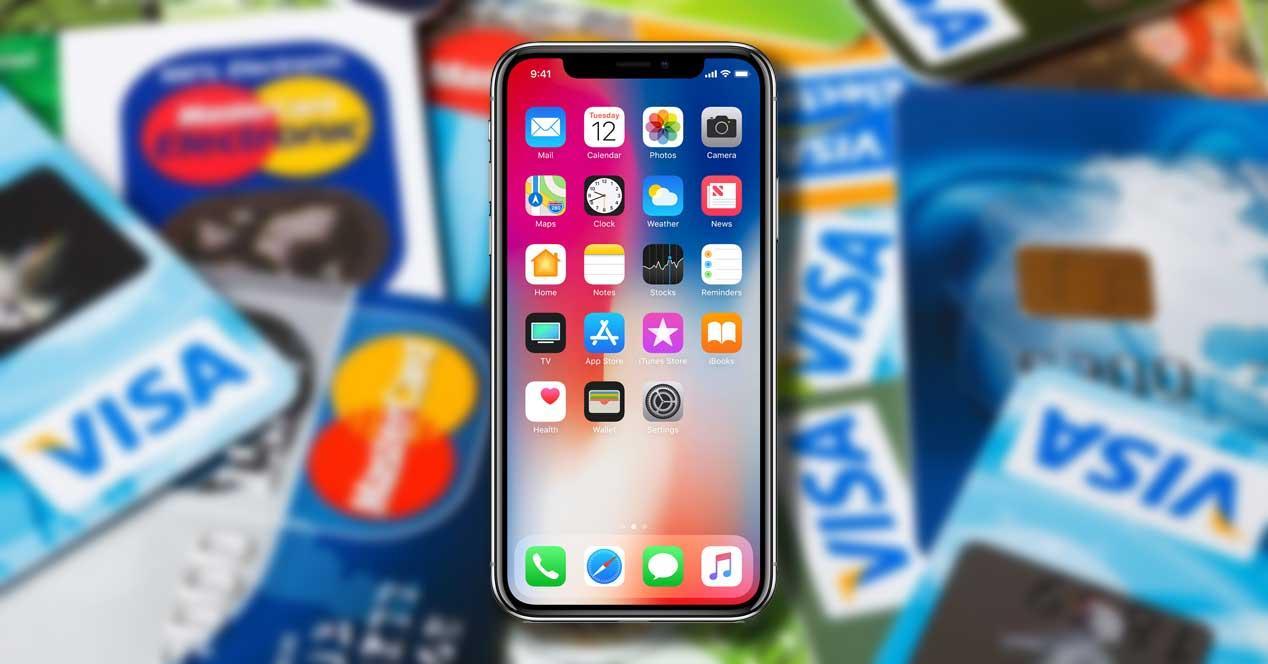 iphone x face id banco pago tarjeta