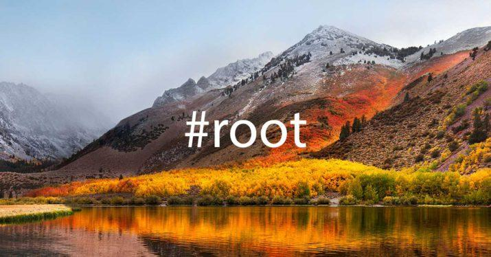 macos root high sierra apple