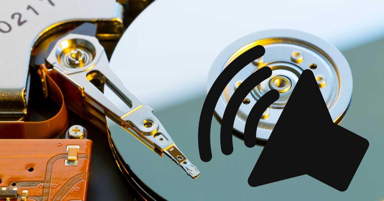 disco duro sonido altavoz