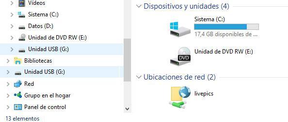 unidades USB