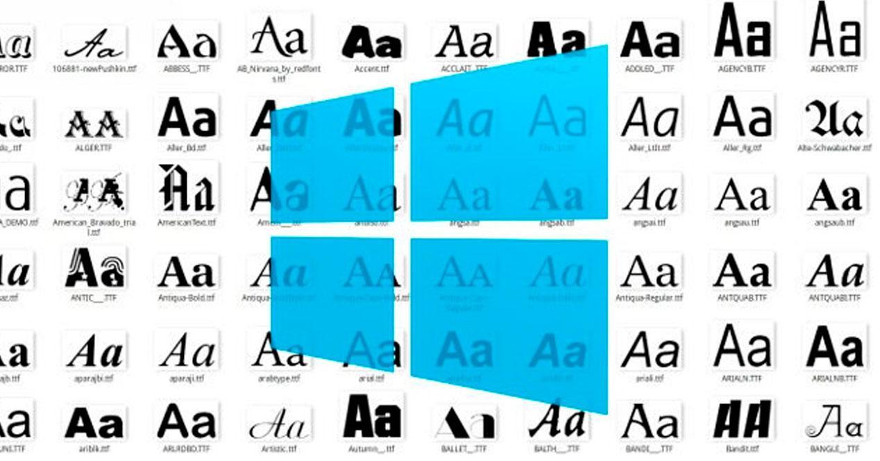 tipo de letras en windows