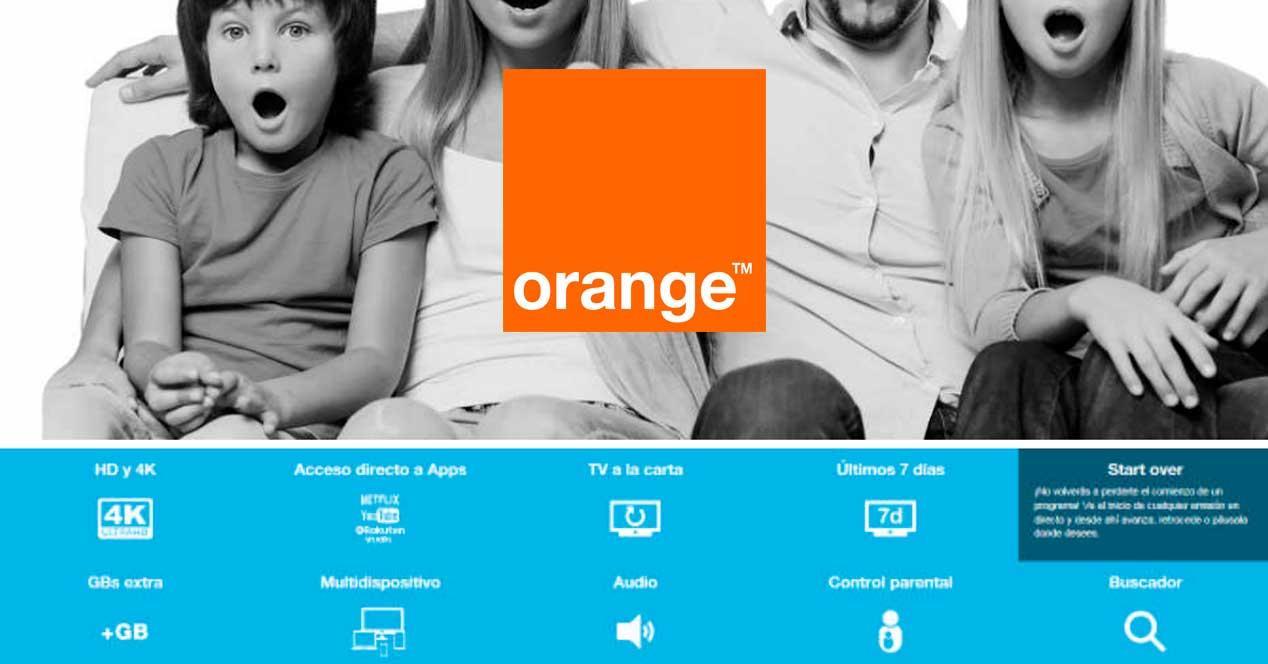 orange tv start over