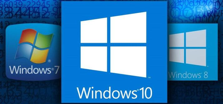 Windows 10 Windows 7 Windows 8
