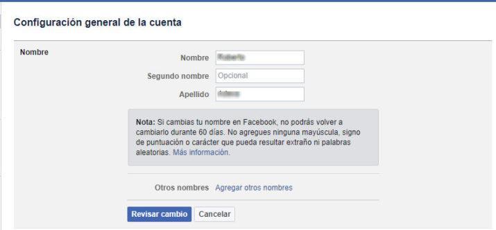 mote en facebook