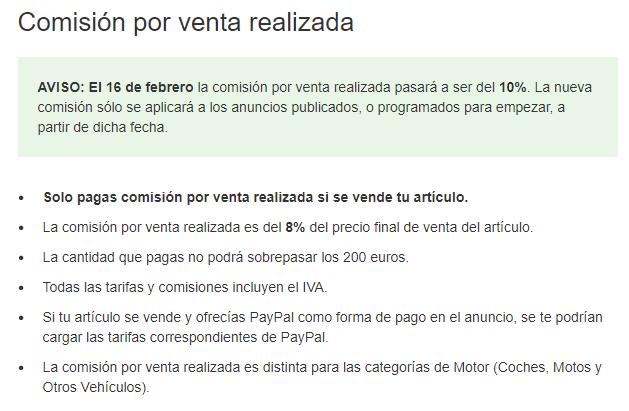 ebay comisiones
