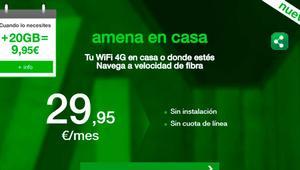Amena en casa te dejará navegar otros 20GB por 9,95 euros