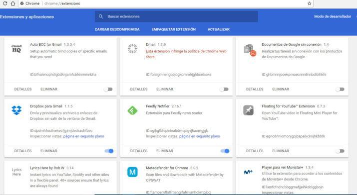 Material Design en Google Chrome