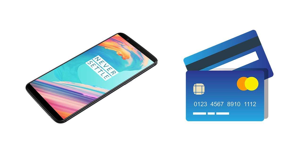 oneplus 5t tarjeta de credito