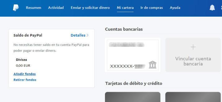 meter dinero en Paypal