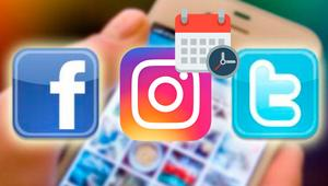 Cómo programar tus publicaciones en Facebook, Instagram y Twitter para un día y hora
