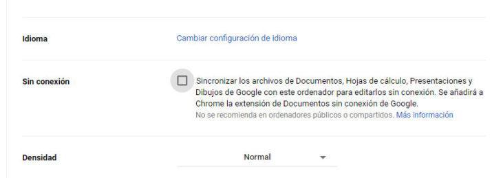 Google Drive sin conexión a Internet