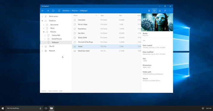 windows 10 explorador de archivos uwp