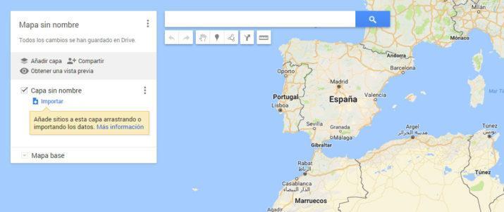 mapa personalizado Google Maps