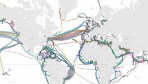Mapa de todos los cables submarinos del mundo actualizado a 2018