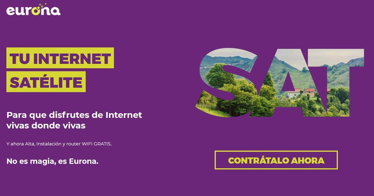 internet satelite eurona