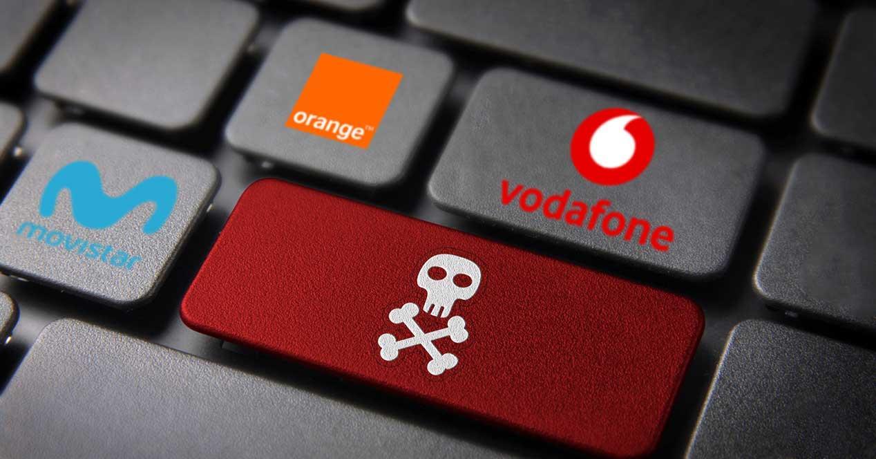 operadores bloquear web pirateria