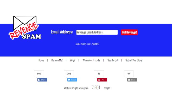revenge spam