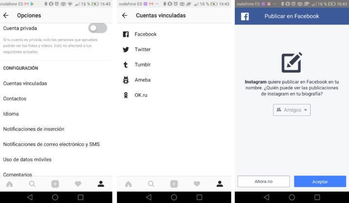 desconectar tu cuenta de instagram de facebook