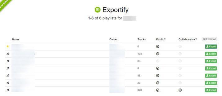 listas de reproducción de Spotifty
