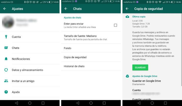 foto o vídeo borrado en WhatsApp