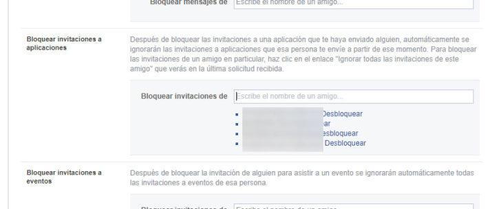 bloquear las invitaciones a juegos o aplicaciones