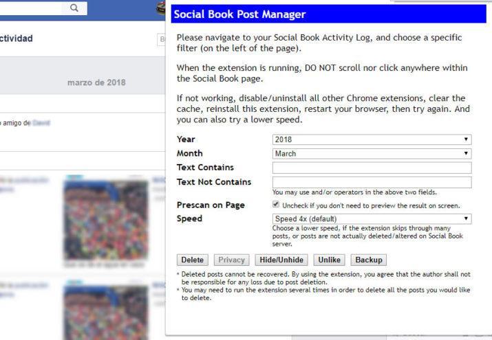 publicaciones antiguas de Facebook