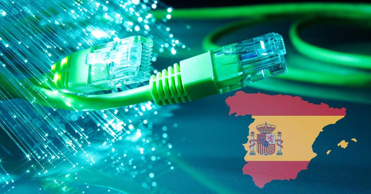 españa fibra optica 2018