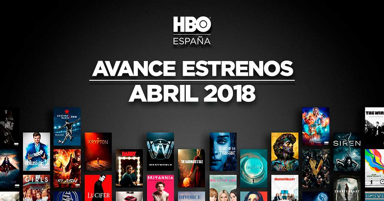 estrenos HBO abril 2018