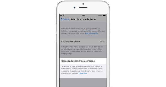 Ver noticia 'iOS 11.3: Cómo evitar que tu iPhone funcione lento aunque tenga problemas de batería'