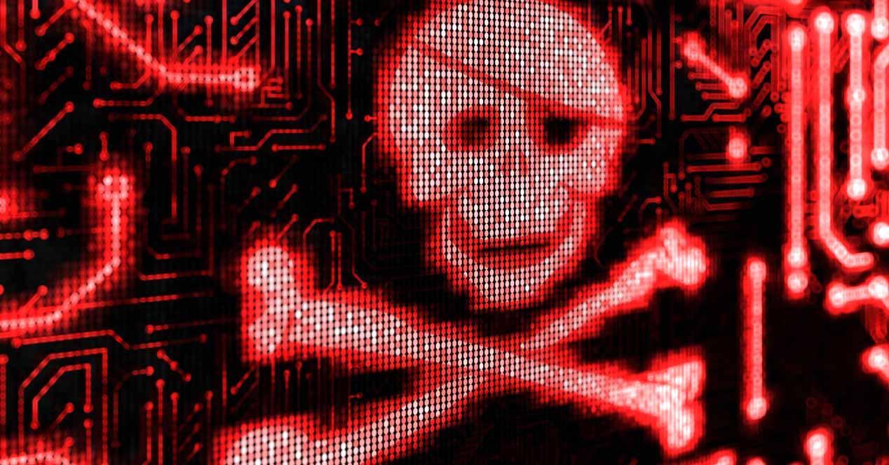 malware calavera roja