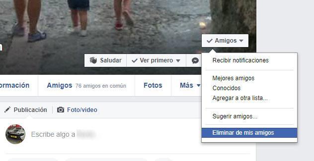 borrar amigos en facebook
