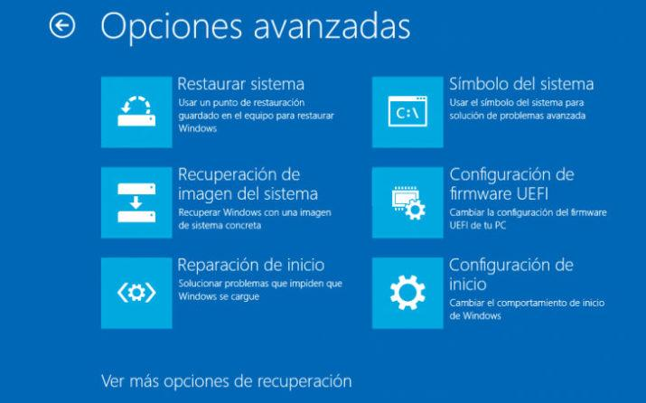 orden de arranque en Windows 10