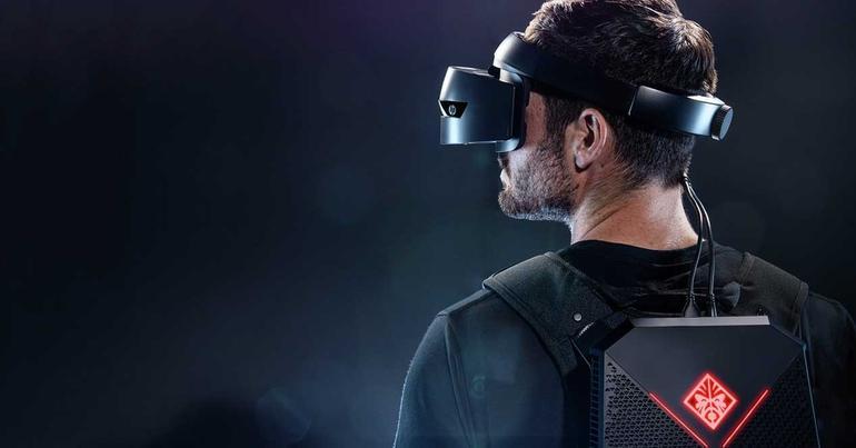 HP mochila VR realidad virtual