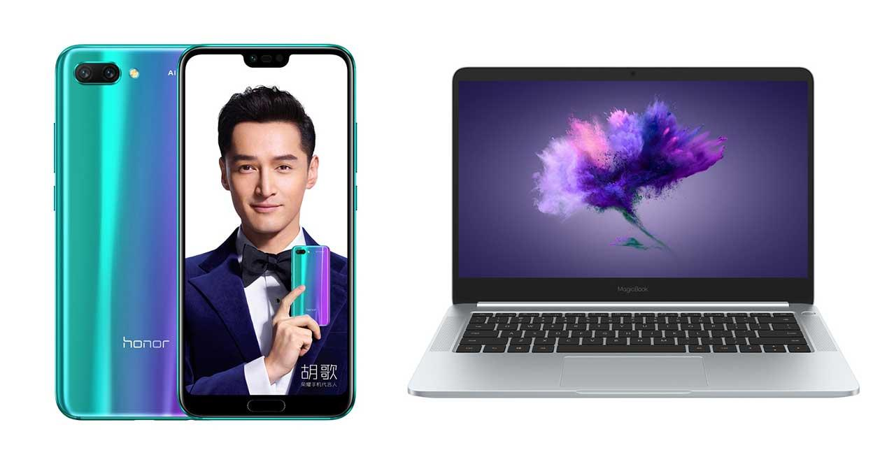 honor 10 y magicbook