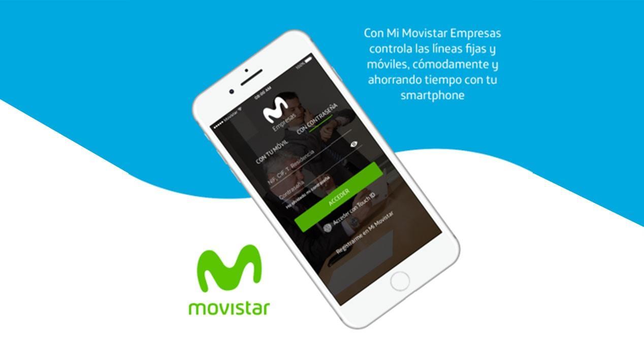 iphone blanco con miapp movistar empresas