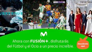 Movistar rebaja hasta 45 euros Fusión+ Ocio, Fútbol, Ocio Total y Fútbol Total