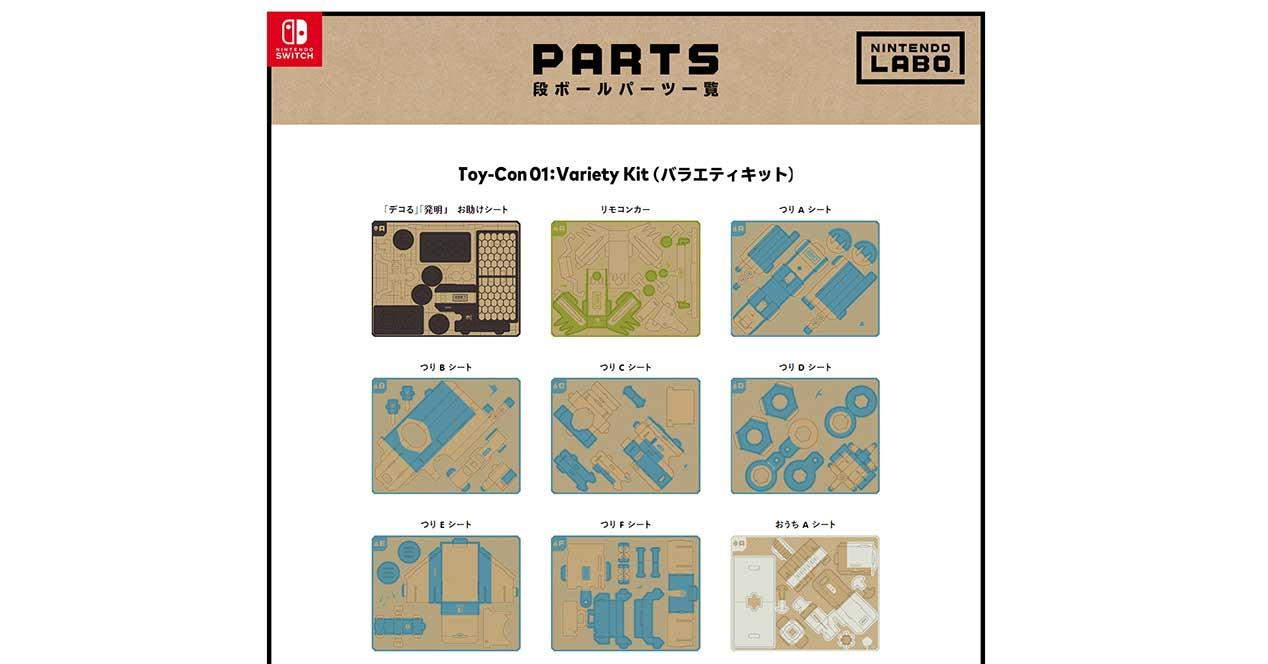 Plantillas Para Imprimir Tu Propio Nintendo Labo Gratis