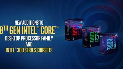 Intel anuncia nuevos procesadores de 8ª generación para sobremesa y portátiles, y placas base baratas