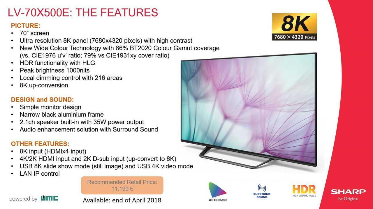 8ee5ba0e68b La TV 8K de Sharp ya tiene precio y fecha de lanzamiento en Europa